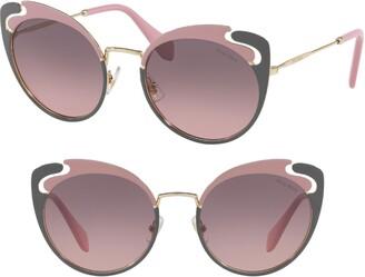 Miu Miu Noir Evolution 54mm Butterfly Sunglasses