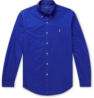 Polo Ralph Lauren Slim-Fit Button-Down Collar Garment-Dyed Cotton Oxford Shirt
