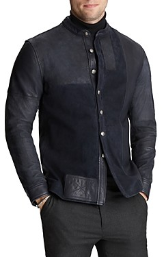 John Varvatos Collection Suede & Leather Jacket
