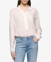Calvin Klein Jeans Striped Pocketed Blouse
