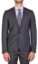 Christian Dior Men's Virgin Wool Two-button Skinny Lapel Suit Grey.