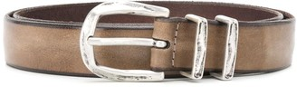 Orciani Distressed Leather Belt