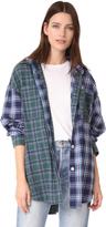 Natasha Zinko Oversized Hooded Plaid Shirt