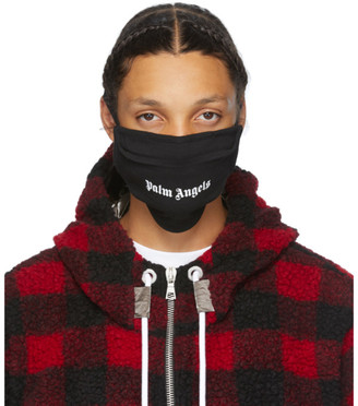 Palm Angels Black Logo Mask