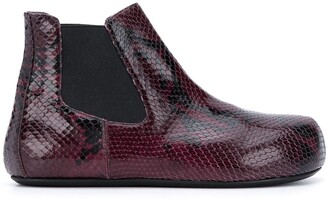 Marni Snakeskin-Effect Ankle Boots