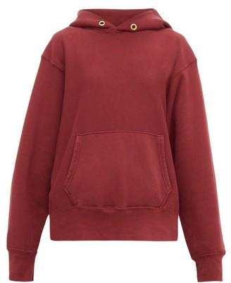 Les Tien - Loop-back Cotton-jersey Hooded Sweatshirt - Womens - Burgundy