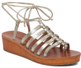 Lucky Brand Hulumi Leather Wedge Sandals