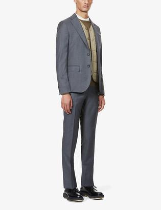 Pal Zileri Brera mini houndstooth wool suit