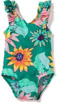 Old Navy Floral Ruffle-Sleeve Swimsuit for Toddler