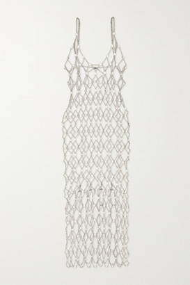 Paco Rabanne Crystal-embellished Chainmail Midi Dress - Silver