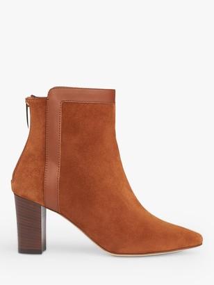 LK Bennett Abbey Suede Block Heel Ankle Boots