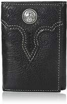 Ariat Men's Floral Concho Embroidery Tri-Fold