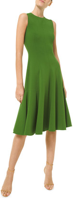 Michael Kors Collection Fit-&-Flare Wool-Blend Dress