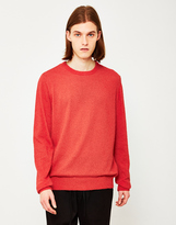 YMC Skate Or Die Towelling Knit Jumper Red