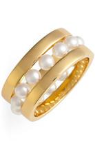 Rebecca Minkoff TT Faux Pearl Ring