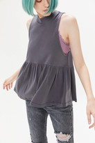 Urban Outfitters Mock Neck Babydoll Tank Top