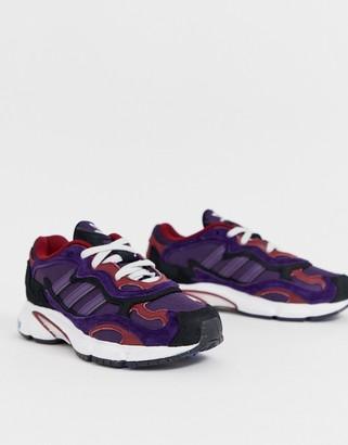 adidas Temper Run in purple and black