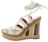 Valentino Lace-Up Espadrille Wedge Sandals