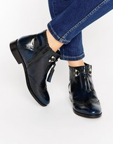 Asos ALYA Leather Tassel Ankle Boots