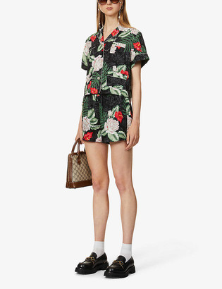 Gucci Hawaiian-print silk shirt