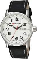 Wenger Men's 01.0341.101 Attitude Day/Date Analog Display Swiss Quartz Black Watch