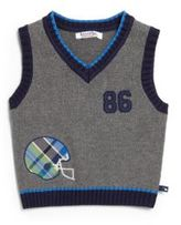 Hartstrings Baby's Football Knit Cotton Sweater Vest