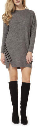 Dex Side Lace Up Detail Sweater Dress