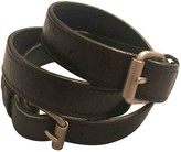 Balenciaga Black Leather Bracelets