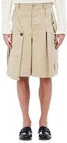 Loewe Men's Cotton Trench Shorts-TAN