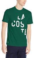 Lacoste Men's Short Sleeve Cut Graphic Regular Fit T-Shirt