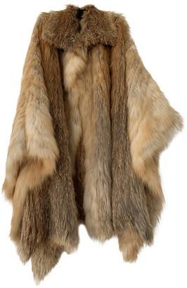 La Perla Beige Fox Jacket for Women