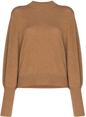 Lee Mathews balloon-sleeve cashmere knit jumper
