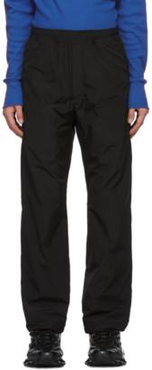 Serapis Black Nylon Logo Track Pants