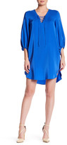 Amanda Uprichard Nora V-Neck Lace-Up Silk Dress