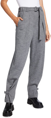 3.1 Phillip Lim Cinched Wool Trousers w/ Belt