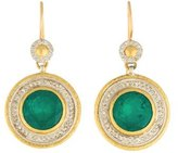 Gurhan Pandora's Box Synthetic Emerald Doublet & Diamond Drop Earrings