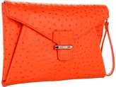 Rafe New York Angeline Envelope Clutch (Orange) - Bags and Luggage