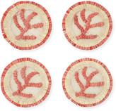Joanna Buchanan Coral Straw Coasters, Set of 4