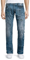 PRPS Barracuda Distressed & Faded Denim Jeans, Blue
