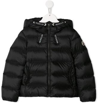 Moncler logo drawstring puffer-jacket