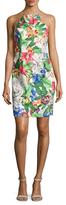 Alexia Admor Floral Print Halter Neck Sheath Dress