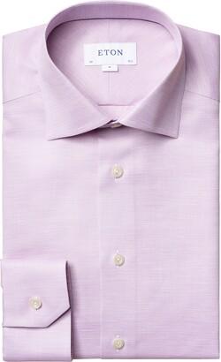 Eton Contrast Collar Extra Trim Fit Shirt