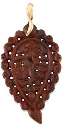 Tamara Comolli India 18K Rose Gold & Snake Wood Large Leaf Pendant