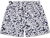 Sunspel Oak Leaf Printed Cotton Boxer Shorts
