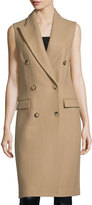 Michael Kors Sleeveless Double-Breasted Coat, Fawn