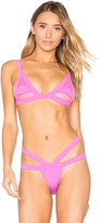Minimale Animale Bandit Rib Top in Pink. - size M (also in XS)