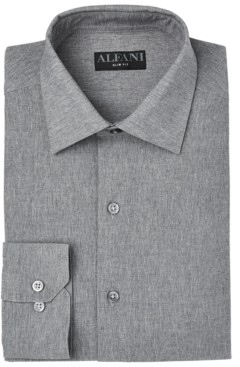 Alfani Men's Slim-Fit Heather Dress Shirt, Created for Macy's