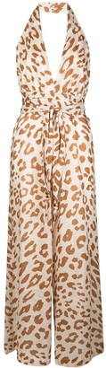Nanushka Alana animal print jumpsuit