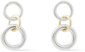 Shashi Chainsaw 18-karat Gold-plated Earrings