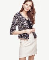 Ann Taylor Petite Leopard Pocket Cardigan
